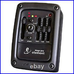 LR Baggs Stagepro Element Preamp EQ Chromatic Tuner with Acoustic Guitar Pickup