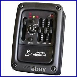 LR Baggs Stagepro Element Side Mounted Preamp / EQ & Tuner With Element Pickup