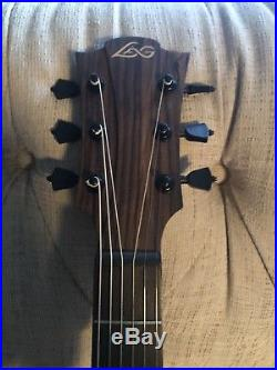 Lag T100ACE-BRS Tramontane Acoustic Electric Guitar Solid Cedar Top with Cutaway