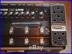 Line 6 POD X3 Live Guitar pedal board Excellent Condition studio use only