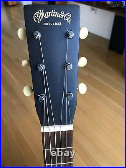 Martin 00 17S Black Smoke Acoustic-Electric Parlor-Style Guitar with Original Case