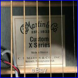 Martin Acoustic Electric Guitar Custom X Series Jett Black Made Mexico 6 String