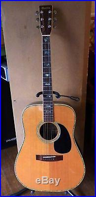 Morris W-40 1970s Rare Electric Vintage Acoustic Guitar Natural From JAPAN F/S