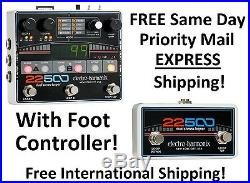 New Electro-Harmonix EHX 22500 Dual Stereo Looper Pedal WITH Foot Controller