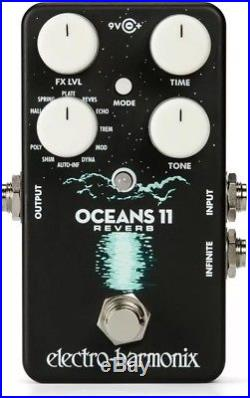 New Electro-Harmonix EHX Oceans 11 Reverb Guitar Effects Pedal