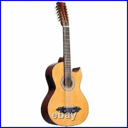 New Lucida LG-BS1-E Bajo Sexto 12-String Acoustic Electric Guitar, Natural