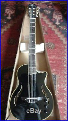 New Nylon String Electric. Acoustic Guitar clasical black