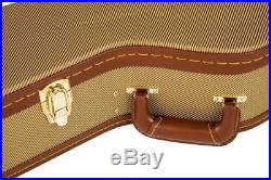 New Tweed Dreadnought Hard Shell Acoustic Guitar Case For Gibson J45 Martin D28