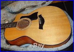 Nice Used 2015 Taylor 114ce Acoustic Electric Concert Guitar & Wolfpack Case