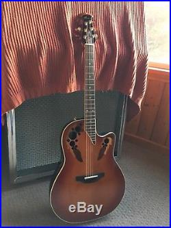 OVATION USA 1778 LX ELITE Electric Acoustic Guitar with Hard Case