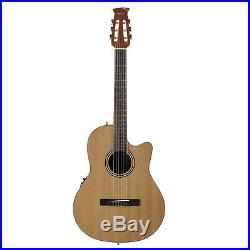 Ovation Applause Classical/Nylon String Acoustic Electric Guitar, Cedar Natural