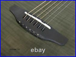 Ovation Applause Elite Acoustic Electric Guitar Trans Black Flame