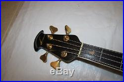 Ovation B778 Black 4 String Acoustic-Electric Bass Guitar
