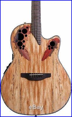Ovation Celebrity Elite Plus Guitar CE44P-SM Spalted Maple Acoustic-Electric