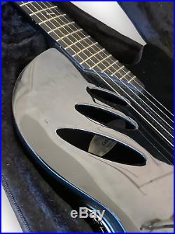 Ovation Celebrity iDea Acoustic/Electric Guitar Black with Gig Bag Great Condition