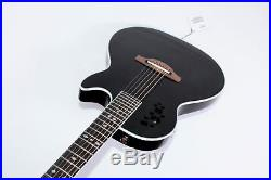 Ovation EA68K-5 Viper Spruce Chambered Body Acoustic-Electric Guitar with Gigbag