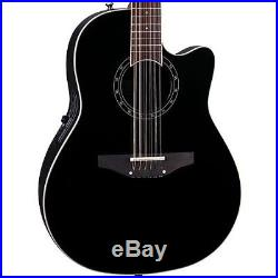 Ovation Standard Balladeer 2751AX-5 12-String Acoustic-Electric Guitar Black AA
