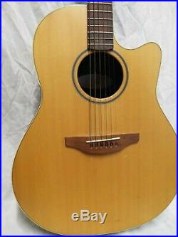 Ovation USA S771 Balladeer Special Natural Acoustic Electric Guitar with hard case
