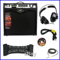 Peavey Vypyr Vip3 Guitar Amp 12 With Sanpera Ii Foot Controller Cable Headphones