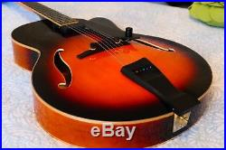 Peerless Imperial, all solid carved wood, archtop jazz guitar. Acoustic/electric
