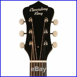 Recording King RPS-7-FE3-TS Dirty 30s Acoustic Electric Parlor Guitar, Sunburst