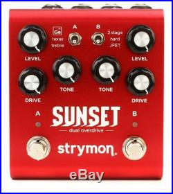 STRYMON SUNSET Dual Overdrive BRAND NEW Guitar Effect Pedal