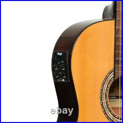 Stagg SCL60 TCE-NAT Cutaway Slim Line Acoustic Electric Classical Guitar Natural