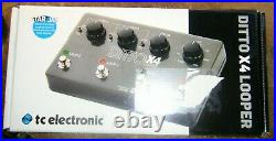 TC Electronic DITTO x4 Guitar Vocals True Bypass Dual Looper Boxed Loop Pedal