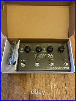 TC Electronic Ditto X4 True Bypass Guitar Looper Pedal Barely Used Boxed