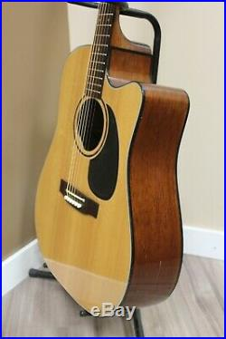 Takamine EF340C Acoustic Electric Guitar Natural with Hard Case