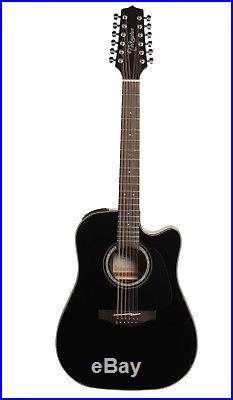 Takamine GD30CE 12-String Dreadnought Cutaway Acoustic-Electric Guitar Black