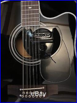 Takamine Pro Series EF381SC Dreadnought 12 String Acoustic Electric Guitar Black
