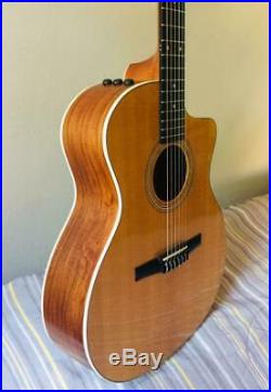 Taylor 214ce-N Nylon String Grand Auditorium Acoustic and Electric Guitar