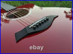 Taylor 214ce-Red DLX Grand Auditorium Acoustic-Electric Guitar Red EXC Condition