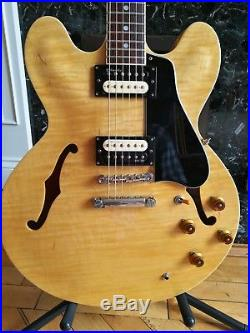 Tokai UES 120 Semi Acoustic Electric Guitar Natural finish 335 Style MIJ