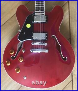 Tokai UES78 335 Semi Acoustic Cherry Red Left Handed