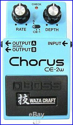Used Boss CE-2W Waza Craft Chorus Guitar Effects Pedal