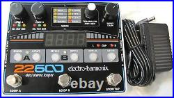 Used Electro-Harmonix EHX 22500 Dual Stereo Looper Guitar Effects Pedal