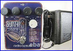 Used Electro-Harmonix EHX SYNTH9 Synthesizer Machine Guitar Pedal Synth 9