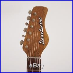 Vintage Danelectro Convertible Acoustic Electric Guitar Coral Firefly Headstock