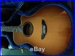 Yamaha apx-5-12a apx512a 12 string acoustic electric guitar